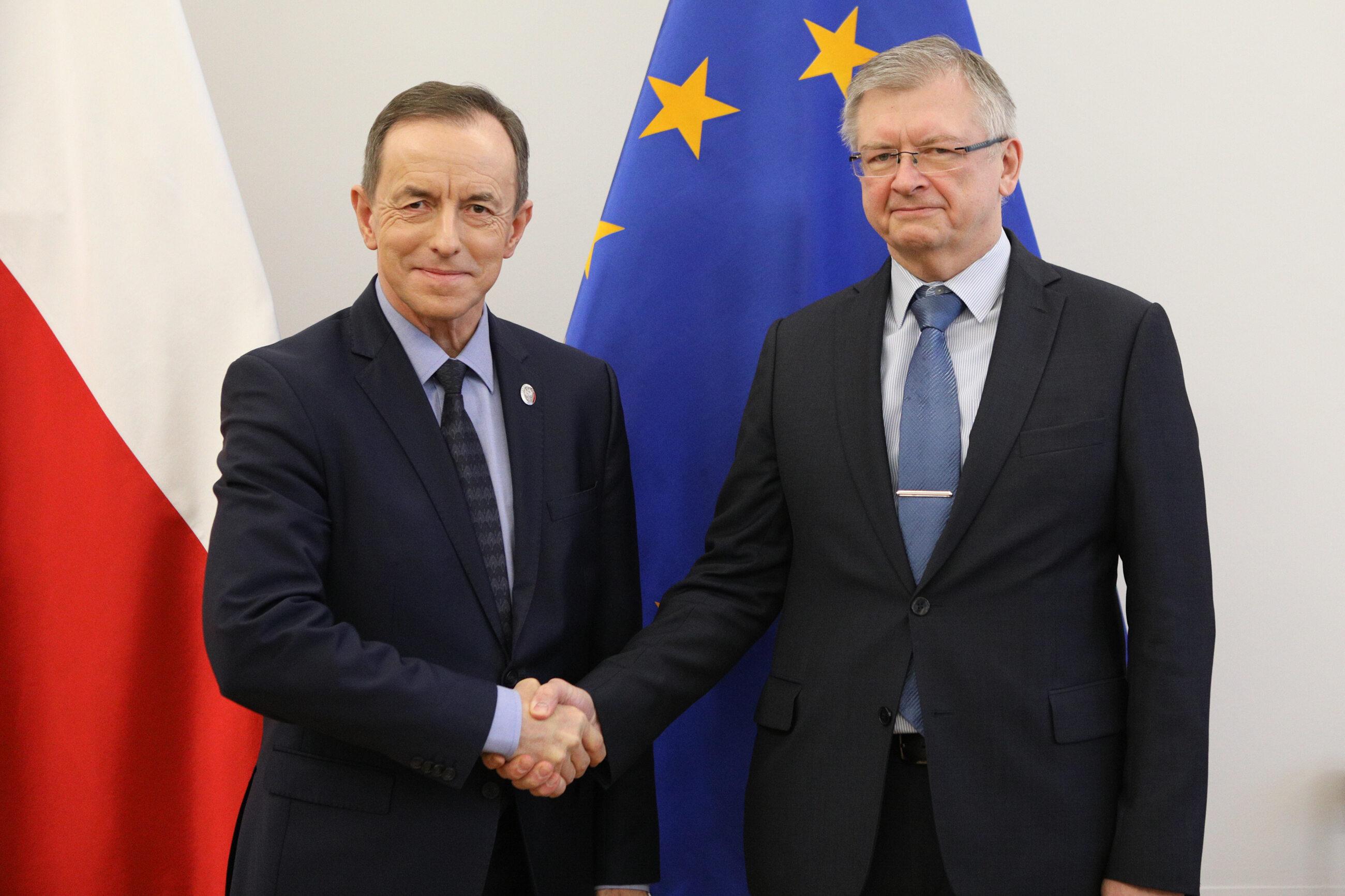Tomasz Grodzki i Siergiej Andriejew podczas wizyty w Senacie