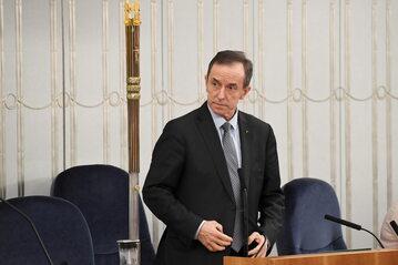 Tomasz Grodzki podczas obrad Senatu