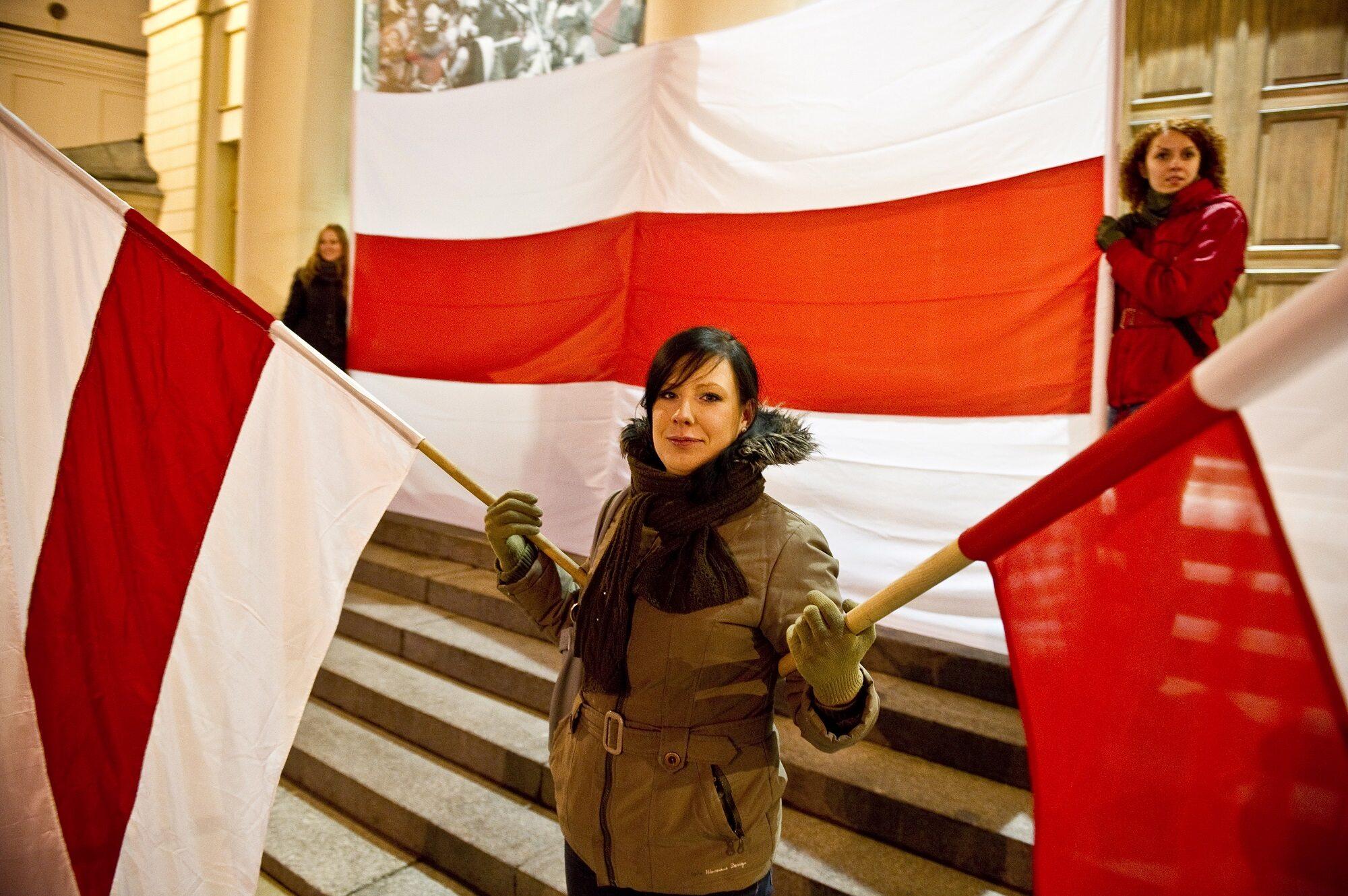 Tradycyjna flaga białoruska