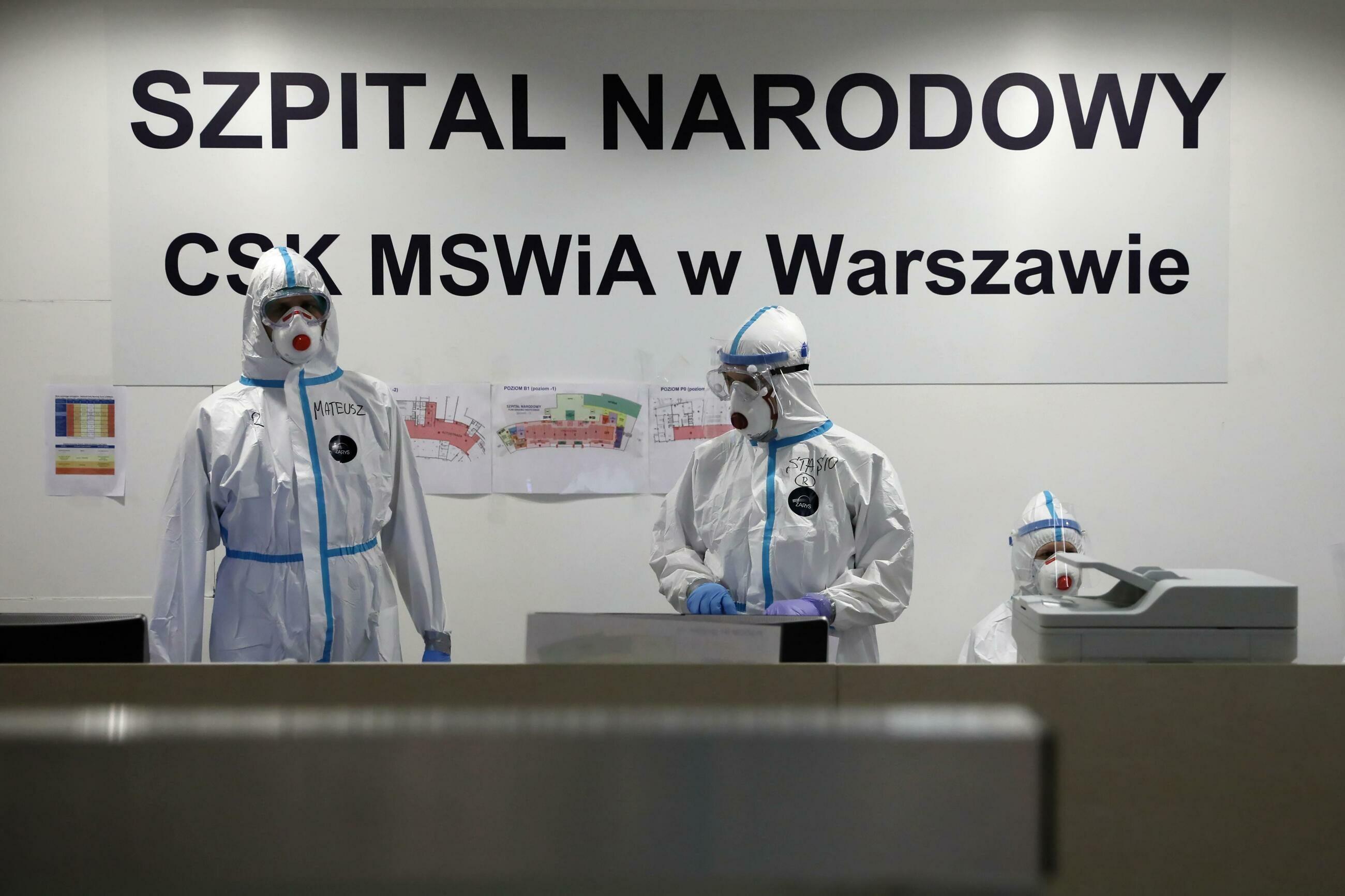 Tymczasowy szpital na Stadionie Narodowym