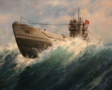 U-Boot na obrazie Augusto Ferrera-Dalmaua