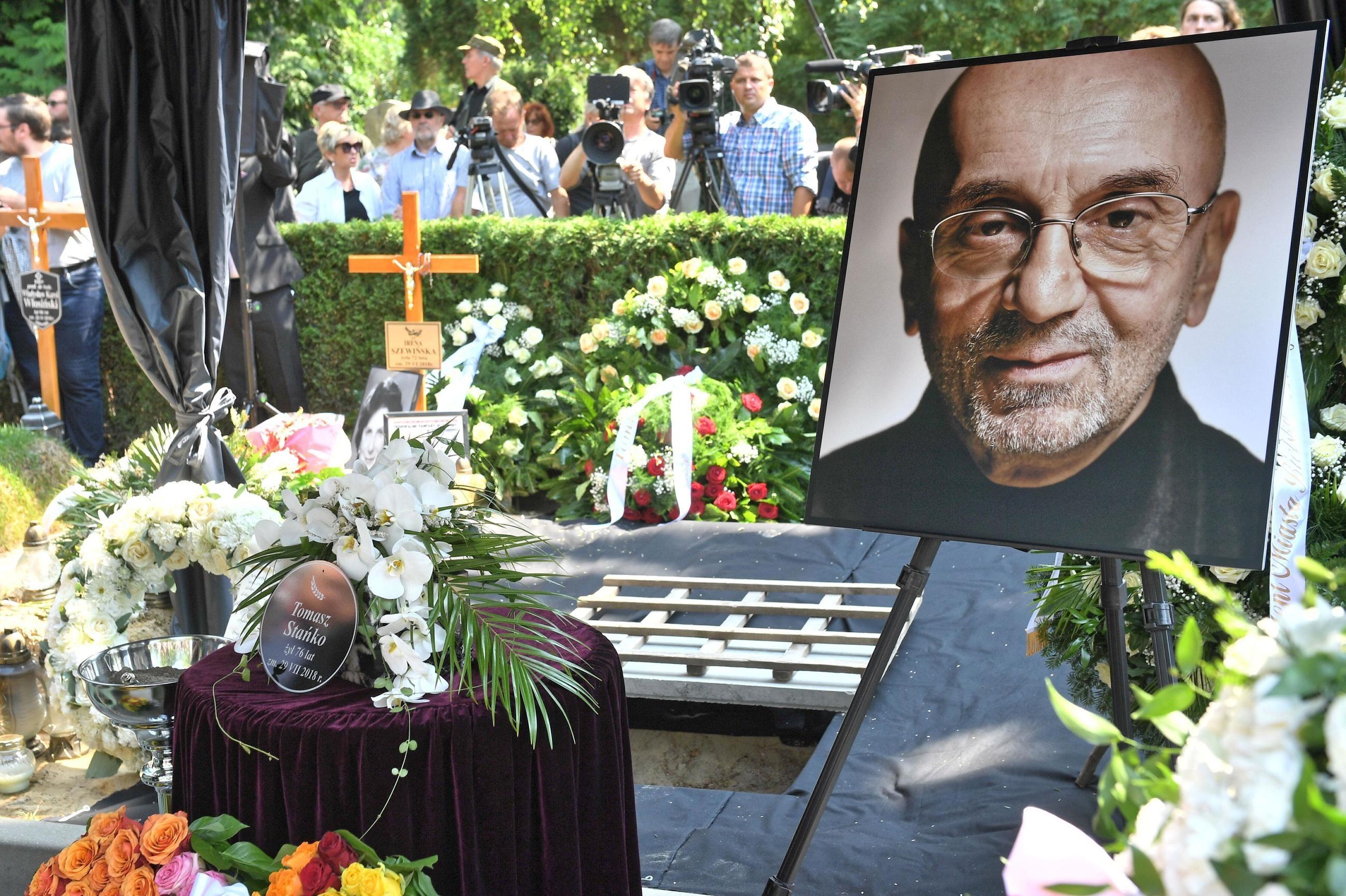 Uroczystości pogrzebowe Tomasza Stańki na Cmentarzu Wojskowym Powązki w Warszawie