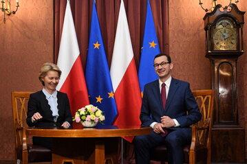 Ursula von der Leyen i premier Mateusz Morawiecki