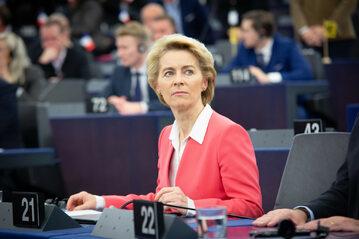 Ursula von der Leyen w Parlamencie Europejskim