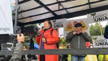 W trakcie protestu rolników w Warszawie głos zabrała m.in. była posłanka Samoobrony Renata Beger.