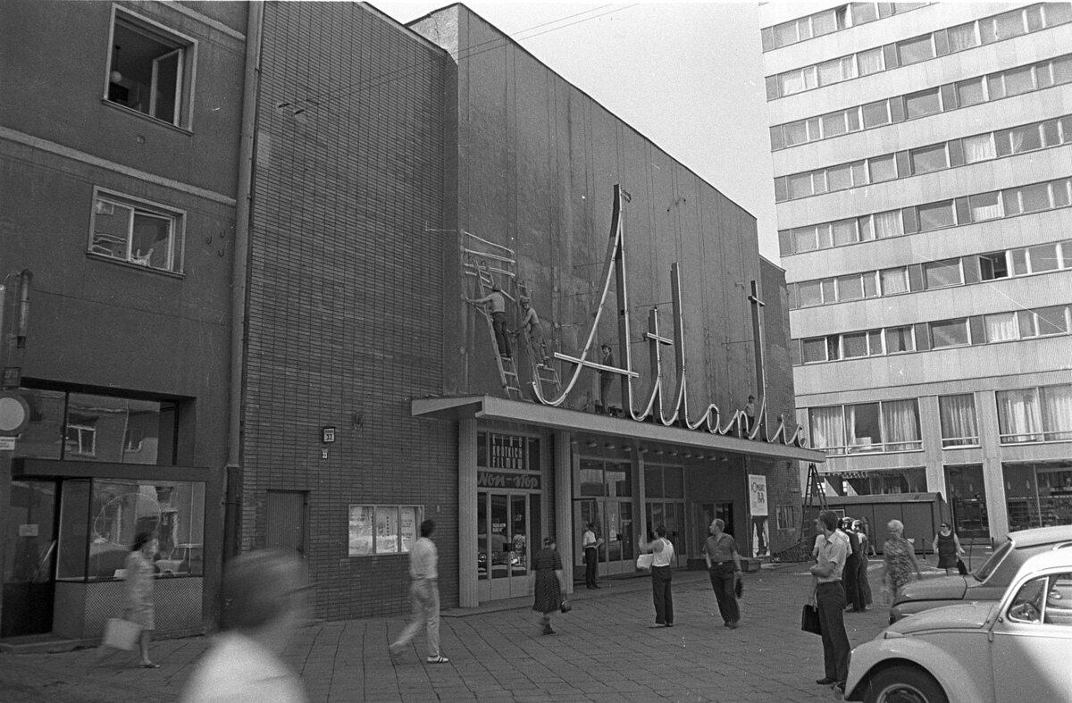 Warszawa ok. 1970. Kino Atlantic