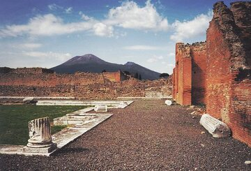 Wezuwiusz widziany z Pompejów