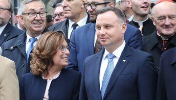 Wicemarszałek Sejmu Małgorzata Kidawa-Błońska i prezydent Andrzej Duda