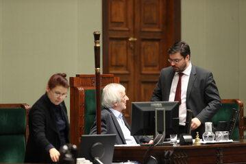 Wicemarszałkowie Sejmu: Ryszard Terlecki (PiS) i Stanisław Tyszka (Kukiz'15)