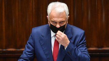 Wiceminister zdrowia Waldemar Kraska na sali plenarnej Sejmu