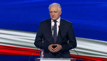 Wicepremier Jarosław Gowin podczas prezentacji Nowego Ładu