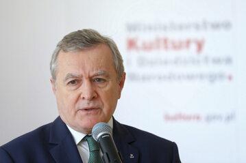 Wicepremier, minister kultury i dziedzictwa narodowego prof. Piotr Gliński