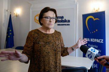 Wiceprzewodnicząca Parlamentu Europejskiego, europosłanka PO Ewa Kopacz