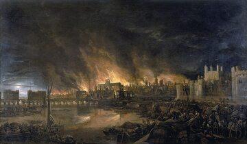 Wielki Pożar Londynu (autor nieznany)