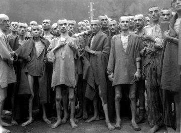 Więźniowie Ebensee, podobozu Mathausen-Gusen