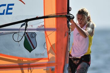 Windsurferka Zofia Klepacka