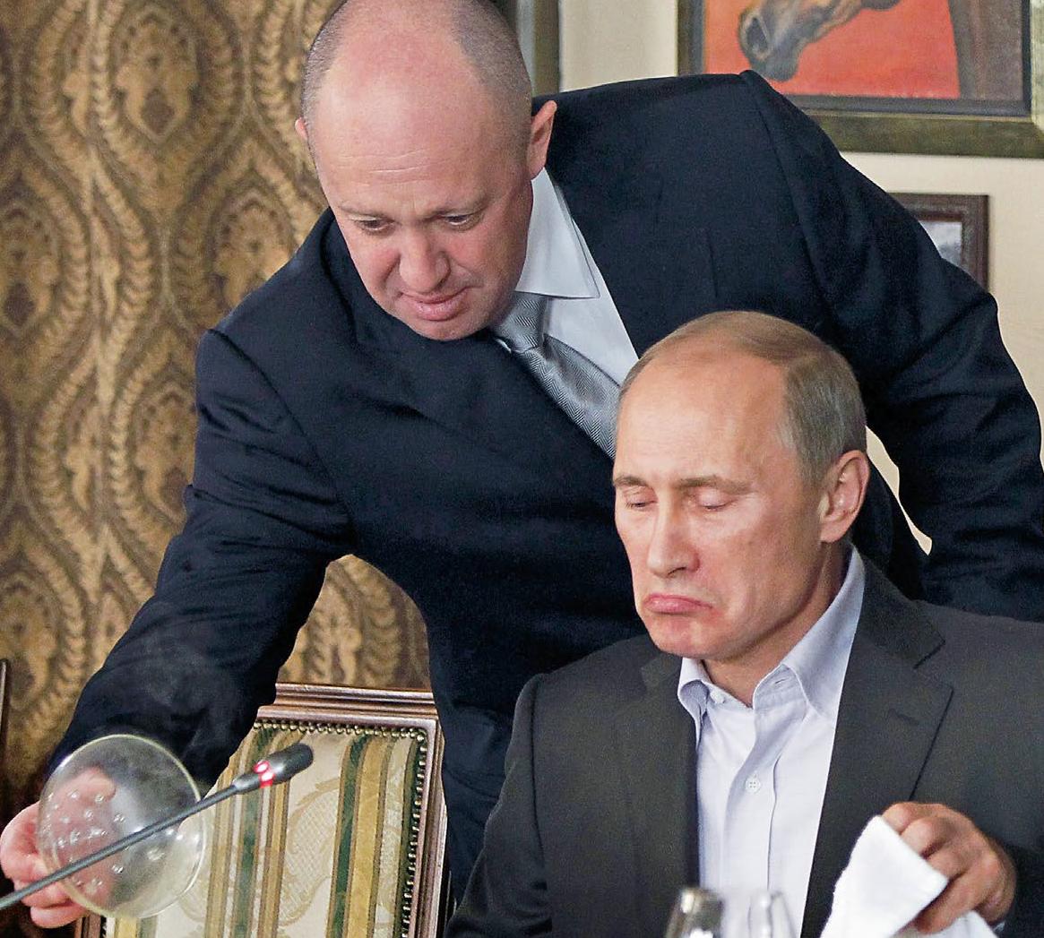 Władimir Putin i jego kucharz Jewgienij Wiktorowicz Prigożyn