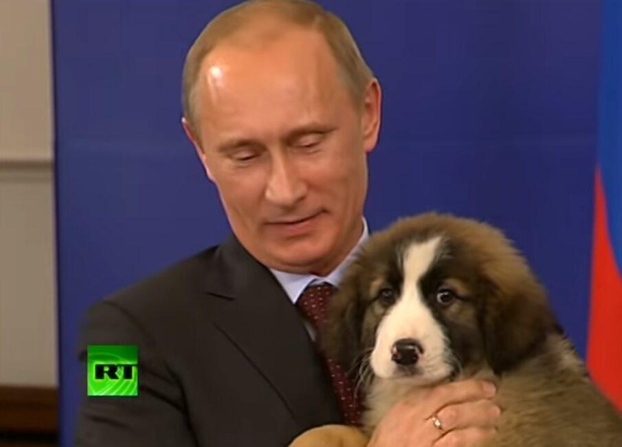 Władimir Putin z psem