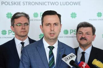 Władze PSL: Adam Jarubas, Władysław Kosiniak-Kamysz, Jarosław Kalinowski
