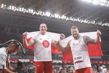 Wojciech Nowicki i Paweł Fajdek podczas igrzysk olimpijskich w Tokio