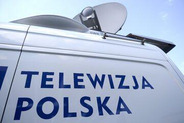Wóz satelitarny Telewizji Polskiej