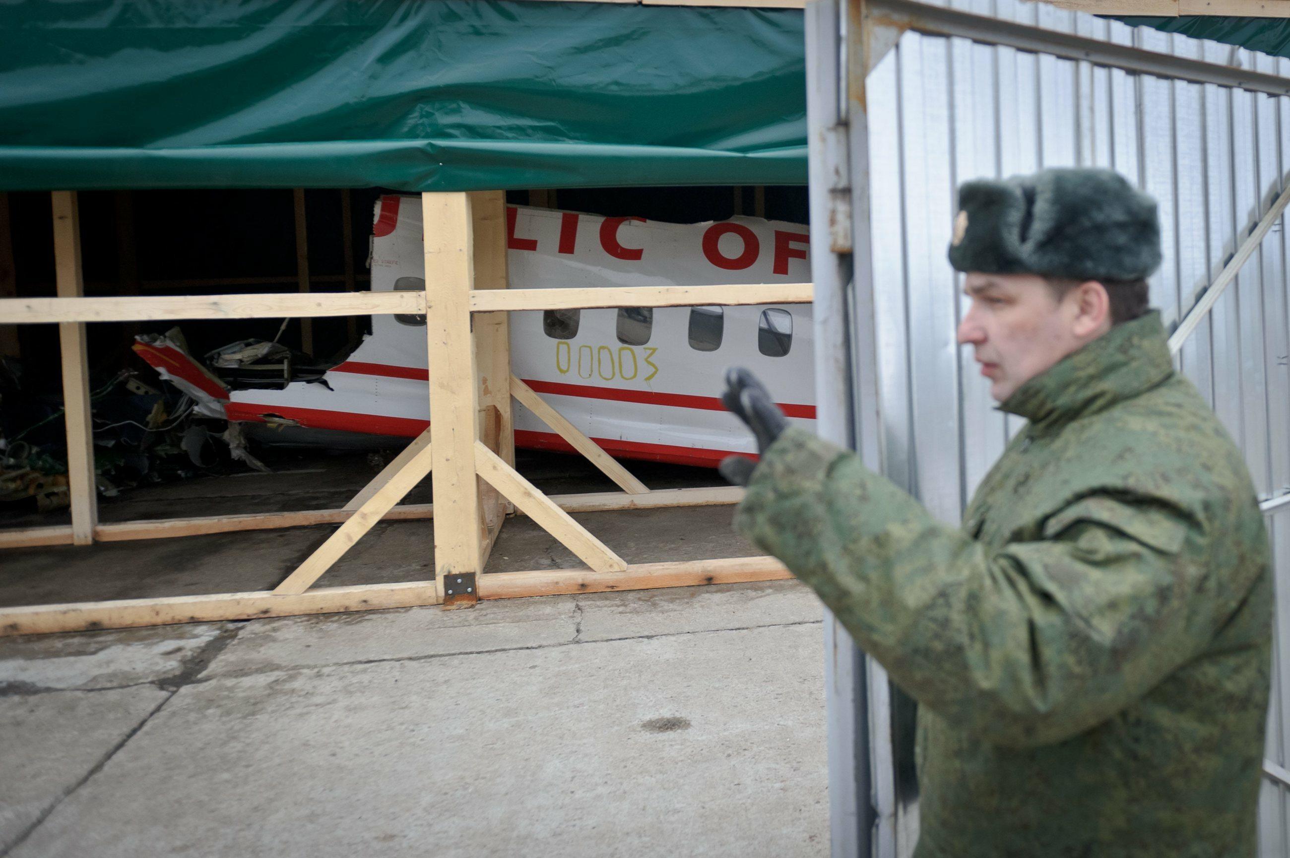 Wrak tupolewa, który rozbił się w Smoleńsku