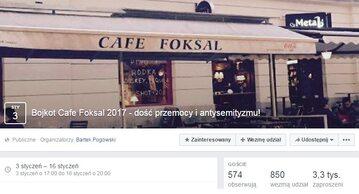 Wydarzenia w Cafe Foksal wywołały burzę w sieci