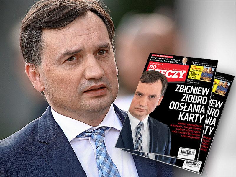 Z ministrem sprawiedliwości Zbigniewem Ziobrą rozmawia Cezary Gmyz
