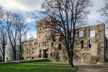 Ząbkowice Śląskie, ruiny zamku z XIV w.
