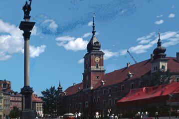 Zamek Królewski w Warszawie podczas odbudowy, 1975 r.