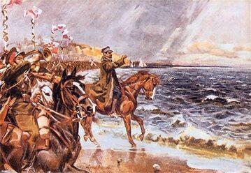 Zaślubiny Polski z morzem. Obraz Wojciecha Kossaka