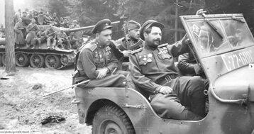 Żołnierze Armii Czerwonej na początku 1945 roku.