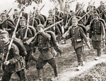 Żołnierze armii niemieckiej w czasie I wojny światowej.