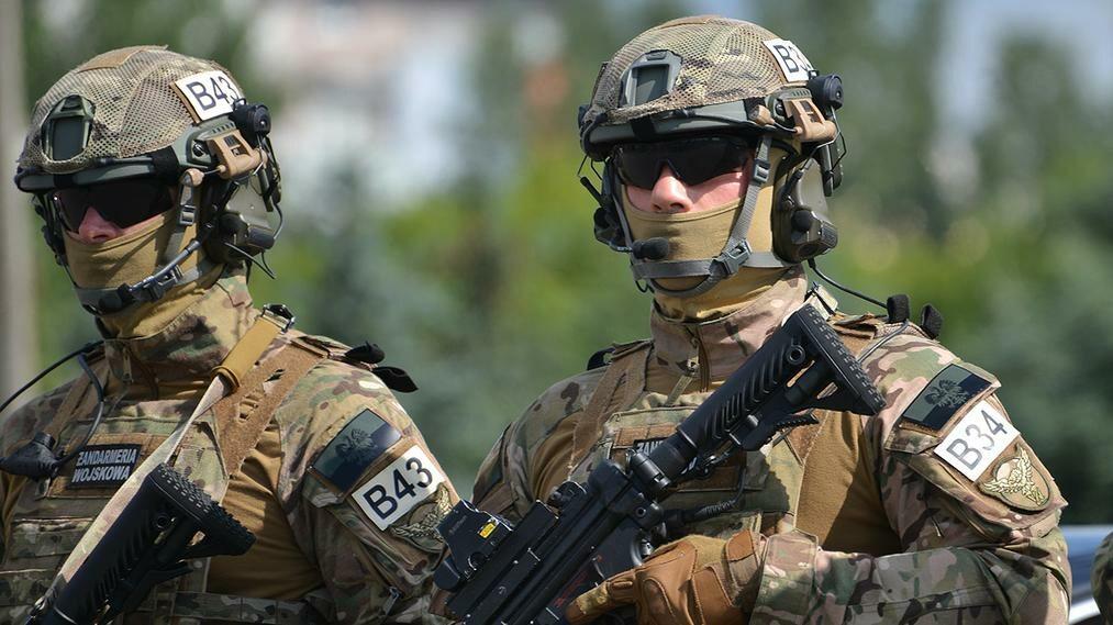 Żołnierze Oddziału Specjalnego Żandarmerii Wojskowej