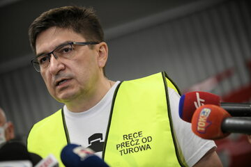 Związkowiec z KWB Turów Wojciech Ilnicki